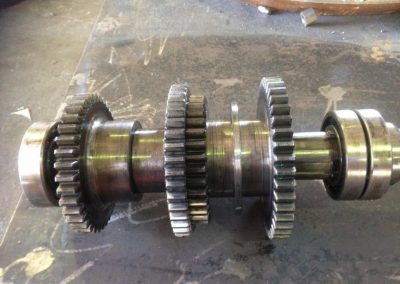 sprocket and bearings on a shaft